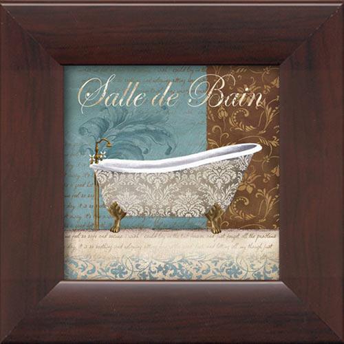 Salle de bain framed canvas art for Salle de bain art nouveau