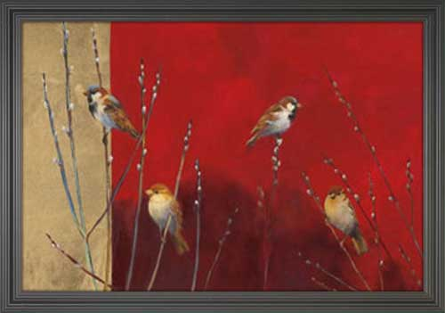 Sparrows in Willow