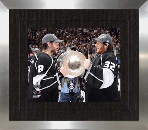 Doughty and Quick with Stanley Cup
