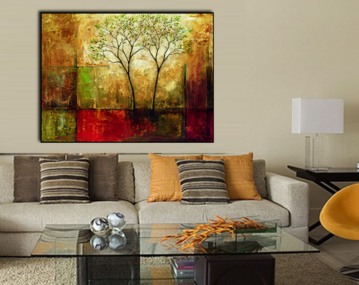 Living Room Framed Canvas Art